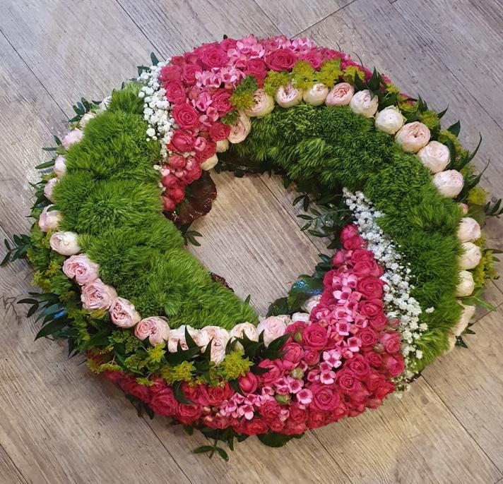 Trauerkranz_grün_pink_weiß